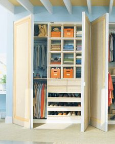 Requires some carpentry - but much better use of built-in closets than what we have..