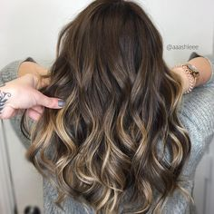 """1,244 Likes, 18 Comments - Hair Painting By Ashlee (@aaashleee) on Instagram: """"Chocolate   Did a little reverse balayage on this blonde"""""""