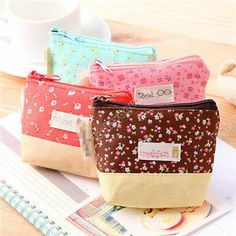 $1.19 Cute Lady Floral Case Coin Card Key Purse Wallet Bag Cosmetic Makeup Pouch 0873 | eBay