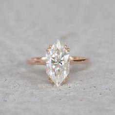#MoissaniteRing #RingForHer #GirlsUniqueRing #DoubleClawProng #WeddingRing #EngagementRing #DiamondRing #GoldRingForHer #DutchMarquise #AntiqueDiamondRing #ColorlessRing #ClawProngRing #RoseGoldDiamondRing Wedding Rings Solitaire, Diamond Solitaire Rings, Diamond Engagement Rings, Solid Gold Jewelry, Marquise, Moissanite Rings, Eternity Bands, Wedding Sets, Natural Diamonds