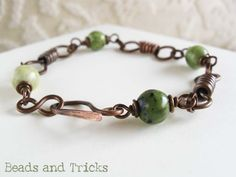 Copper clasp and links