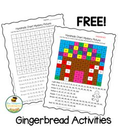 Free Christmas worksheets - gingerbread activities Friend Activities, Holiday Activities, Math Activities, School Holidays, Winter Holidays, Plant Lessons, Christmas Math Worksheets, Gingerbread Man Activities, Classroom Freebies