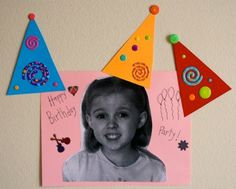 Party Game: Pin the Hat on the Birthday Girl or Boy!  This would be neat, new twist on a classic game!