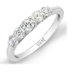 0.50 Carat (ctw) 14K White Gold Round White Diamond Five Stone Engagement Bridal Band DazzlingRock Collection. $499.00. Weighs approximately 4.00 grams. Diamond Color / Clarity : H-I / I1-I2. Has a stunning 0.50 Ct.T.W Round Diamonds.. Crafted in 14K White Gold.. This Ring is best for wedding band.. Save 67% Off!