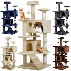 """Yaheetech 53.5"""" Cat Tree Tower Condo Furniture Scratch Post for Kittens Pet House Play Multi level scratching tree post with cave sleeping area Brand new and high quality 53.5'' cat tree suitable for kittens Skin-friendly MDF board and environmental-friendly Flannelette https://pets.boutiquecloset.com/product/yaheetech-53-5-cat-tree-tower-condo-furniture-scratch-post-for-kittens-pet-house-play/"""