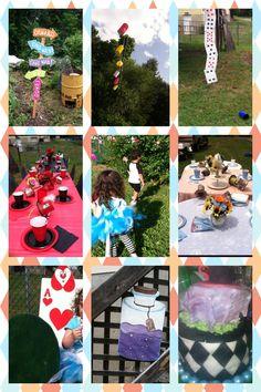 DIY Alice in Wonderland birthday party.