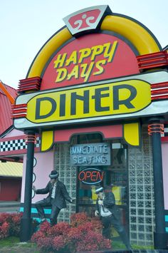 Happy Days Diner - This old diner is located in Pigeon Forge! Great atmosphere and delicious American food!