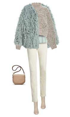 """""""Neutrals for Winter"""" by yasminasdream ❤ liked on Polyvore featuring H&M, AG Adriano Goldschmied, Aquazzura, Tara Jarmon, Isabel Marant and Elizabeth and James"""