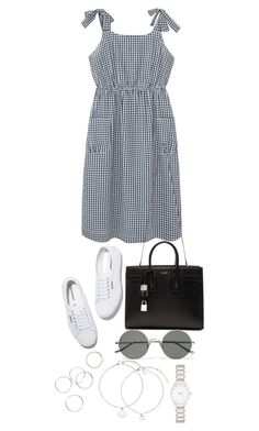 """Untitled #4305"" by theeuropeancloset on Polyvore featuring Violeta by Mango, Superga, Yves Saint Laurent, Sunday Somewhere and Forever New"