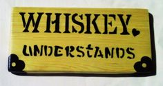 Funny Sign Whiskey Sign Rustic Wood Wall Decor by KayzAttic
