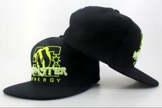 Monster Energy Snapback Hats Black  http://www.picksnapbackhats.com/monster/