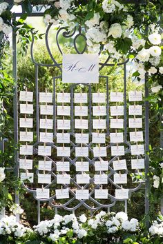 Seating-Card Display on Gate | Photo Courtesy of Birch Design Studio, Ltd. View More: https://www.insideweddings.com/biz/birch-design-studio-ltd-chicago/8867/