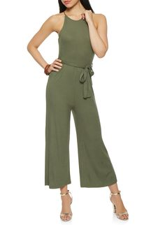 818965047e1 Ribbed Knit Tie Waist Jumpsuit