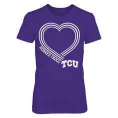 3ed8cbe2e58d9 Lined Heart - TCU Horned Frogs T-Shirt TCU Horned Frogs Official Apparel -  this