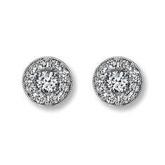 Diamond halo studs by Neil Lane Bridal for Kay Jewelers