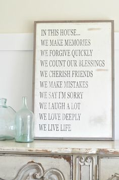 2x3 In this house by BetweenYouAndMeSigns on Etsy
