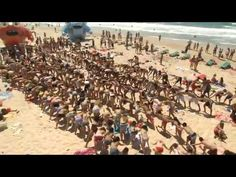 beach dancers flash mob in Israel