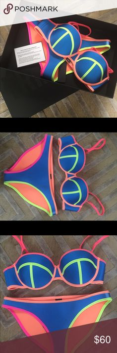 Triangl bathing suit Selling NWT Heidi-Island Kiss bathing suit by Triangl. Size large top and bottom. Runs small. triangl swimwear Swim Bikinis