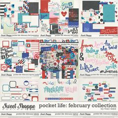 Pocket Life: February Digital/Printable Project Life Collection by Traci Reed