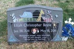 West Memorials designs and installs Headstones for Infants. WestMemorials.com 800.508.6022