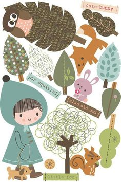 cute fall clipart...can use to make a flannel board...