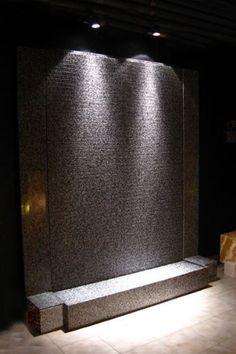 213cm wasserwand | wasserwand, edelstahl und beleuchtung, Wohnzimmer