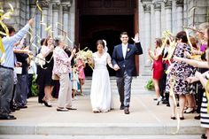 St. Louis wedding at a cathedral, reception at a vineyard.  Very cool vintage inspired wedding.