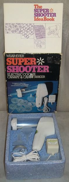 Vintage Wear-Ever Super Shooter Electric Cookie Maker Canape Candy Press Gun Idea Book  by ShonnasVintage