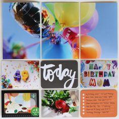 Project Life Idea: Birthday layout