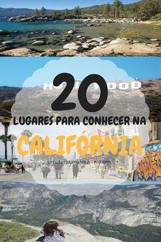 Conheça 20 lugares incríveis na Califórnia, um dos estados mais famosos dos Estados Unidos, onde encontra-se cidades famosas como San Francisco e Los Angeles.