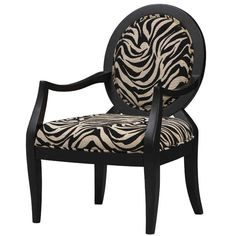 Linon Home Decor Occasional Chair In Zebra Print - Beyond the Rack