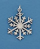 """""""Sterling Silver Pendant, 1 inch, Snowflake""""http://www.silvermessages.com/sterlingsilverjewelry/category/christmas.html"""