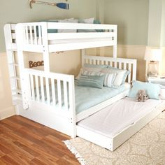 Free DIY bunk bed plans & ideas that save a lot of space in the bedroomIdeal free plans for 3 bunk beds that will impress youLearn more and shop at blackdiamondbunkb . bunks are for Corner Bunk Beds, Bunk Beds For Girls Room, Kids Room Bed, Bunk Bed Rooms, Bunk Bed With Desk, Loft Bunk Beds, Modern Bunk Beds, Bunk Beds With Stairs, Kid Beds