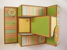 scrappin it: Folding card – Tutorial