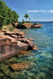 Stunning Madeline Island in Wisconsin.