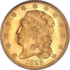 Early Half Eagles, 1828 $5 MS64 PCGS. CAC. BD-4, High R.6....