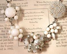 bracelet made from vintage earrings $39.99