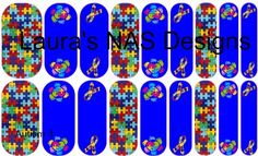 Autism 3  #NAS #Jamberry #NailArtStudio #NailArt #DIY #laurasnasdesigns