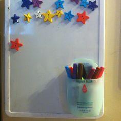 Diy Marker Holder Using Dry Eraser Boards For Organization