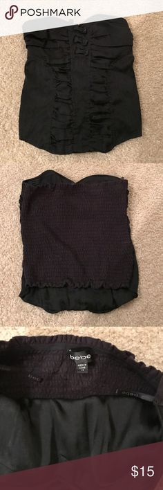 bebe Stretchy Corset Halter bebe Stretchy Corset Halter. Heart shaped cut in XS. bebe Tops Crop Tops