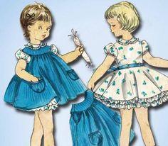 1950s Original Sweet Tiny Tot Dress Pinafore Pattern Sz 3   eBay