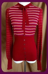 Make Offer! ❤️ FREE PEOPLE Red Cardigan Sweater Size XS