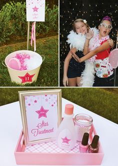 """Sparkly Pink Star Party {Backyard Birthday} doing these for next years birthday """"season"""""""