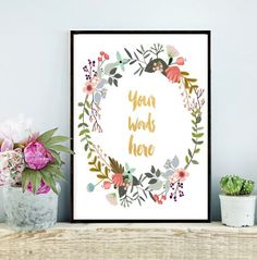 Custom Quote Print, Custom Typography, Custom Quote, Printable Art, Custom Design, Personalized Quote,Custom Quote Poster, Instant download