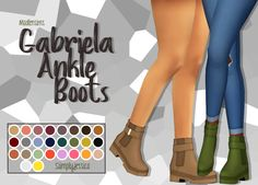 Gabriela Ankle Booties OH-EM-GEE! this is my most favorite recolor I have done recently. I practically live in booties IRL and I can't believe I just discovered these shoes. Sims Four, Sims 4 Mm Cc, My Sims, Maxis, Vêtement Harris Tweed, Sims 4 Cc Shoes, Sims 4 Toddler, Nike Pro Women, Sims 4 Cas