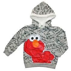 3da3d5ca Sesame Street Elmo Little Boys' Toddler Hooded Shirt Pullover Hoodie  toddler boys will love wearing