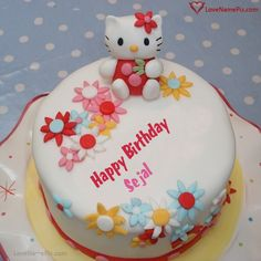 Create Cute Kitty Birthday Cake For Girls With Name Photo On Best Online Generator Editing Options And Send Happy Wishes