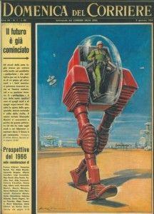 """La Domenica del Corriere, 2 gennaio 1966 From the people who brought you """"Italian Spider-Man"""", it's """"Italian Pacific Rim."""""""