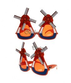 171fdaf18ab93e Geweldige oranje molentjes party zonnebril. Perfect te dragen tijdens  Koningsdag of WK voetbal!
