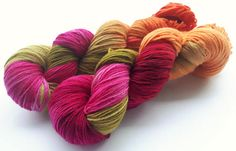 Hand painted Premium high twist sock yarn hand dyed: Last